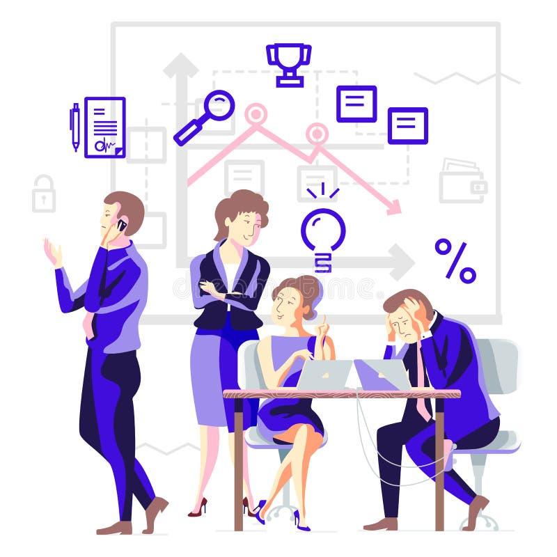 Rozwój biznesu w drużynie royalty ilustracja