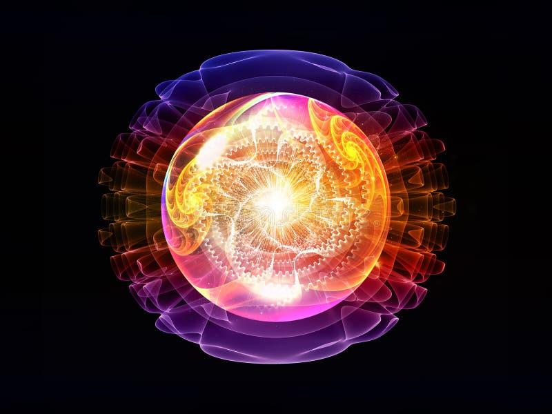 Rozwój Falowa cząsteczka ilustracji