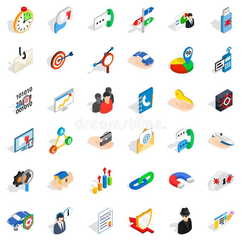 Rozwój ikony ustawiać, isometric styl ilustracja wektor