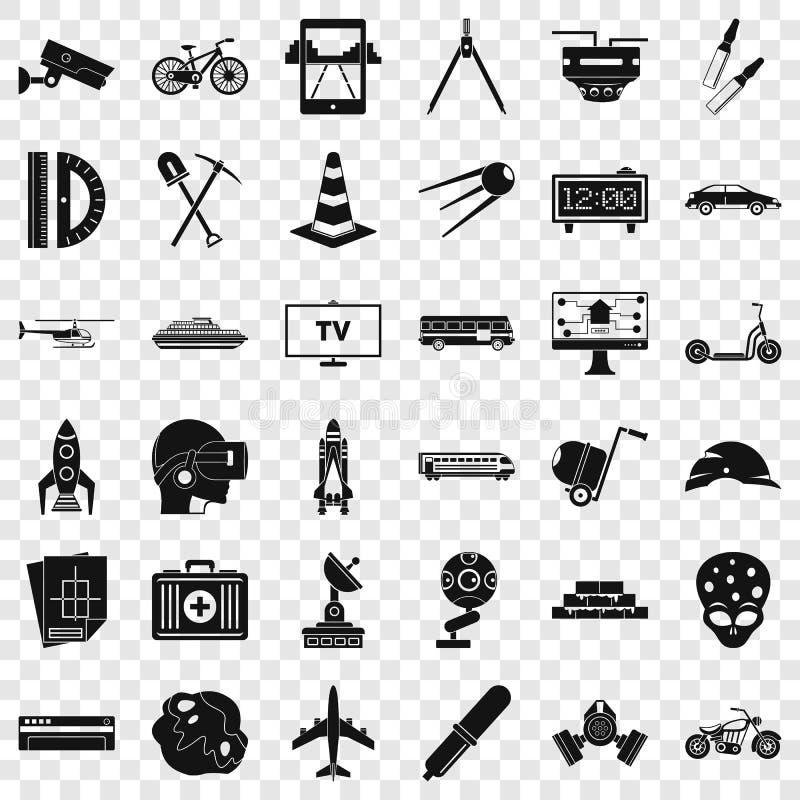Rozwój ikony ustawiać, prosty styl ilustracja wektor