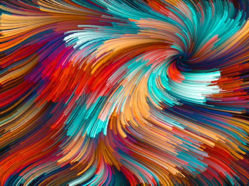 Rozwój koloru Vortex ilustracja wektor