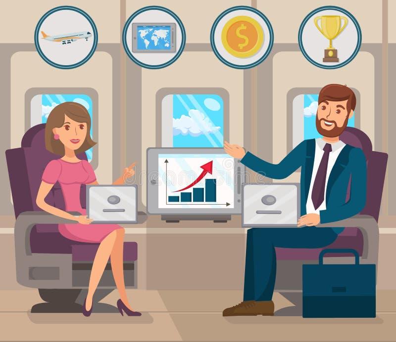 Rozwój międzynarodowy biznes Wektorowy mieszkanie ilustracja wektor