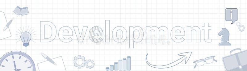 Rozwój strategii biznesowej pojęcia projekta planowania sztandar ilustracji
