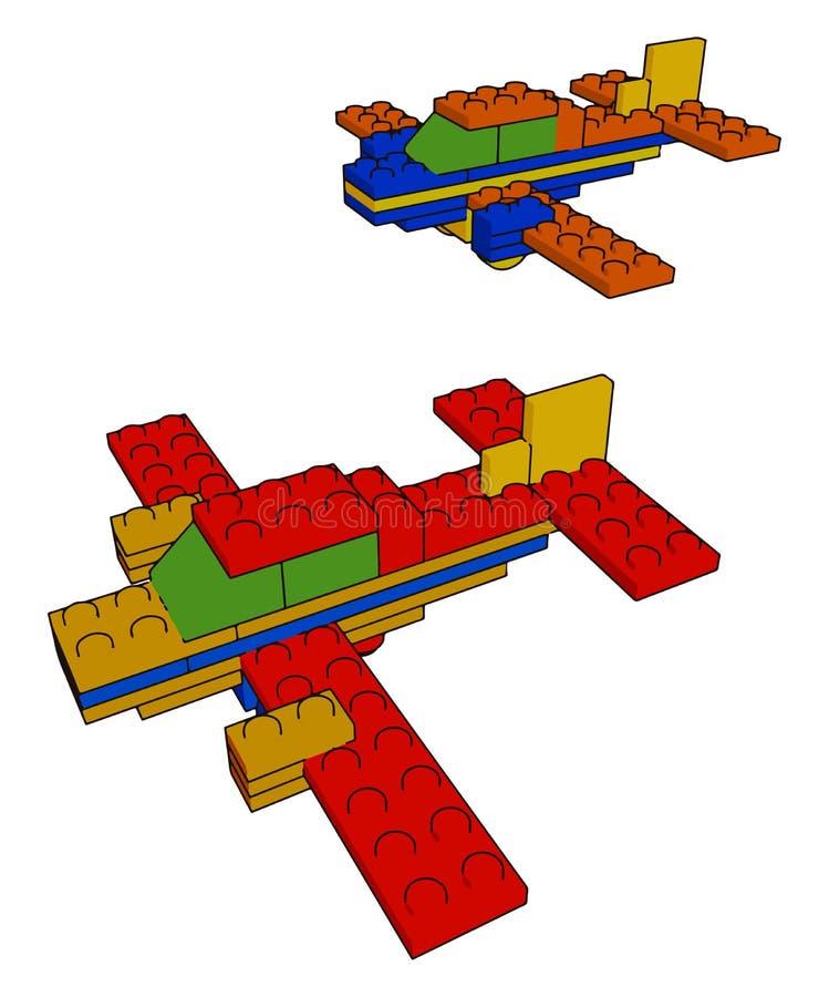 Rozwój umiejętności dzięki wektorowi zabawek lub ilustracji kolorów royalty ilustracja