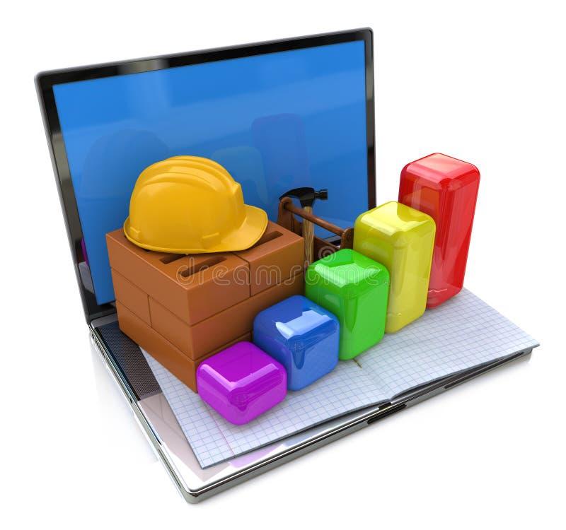 Rozwój w przemysle budowlanym ilustracja wektor