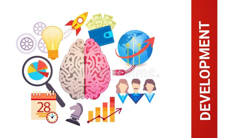 Rozwój Wydajnej Planistycznej strategii sieci Biznesowy sztandar ilustracja wektor