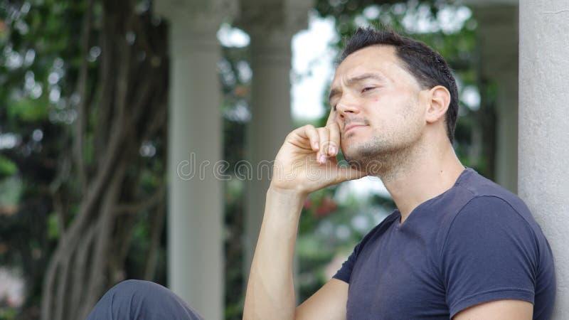 Rozważna caucasian samiec obraz stock