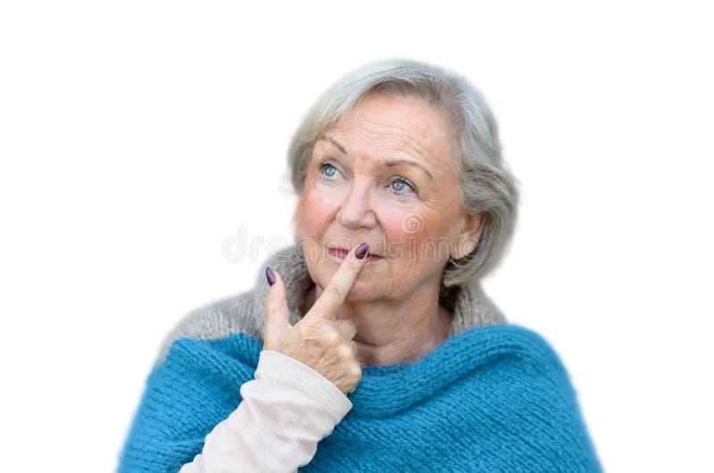 Rozważna elegancka starsza kobieta zdjęcie stock