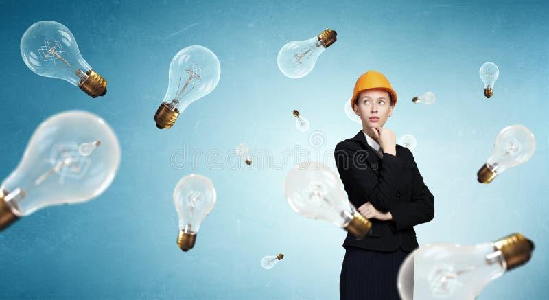 Rozważna inżynier kobieta fotografia stock
