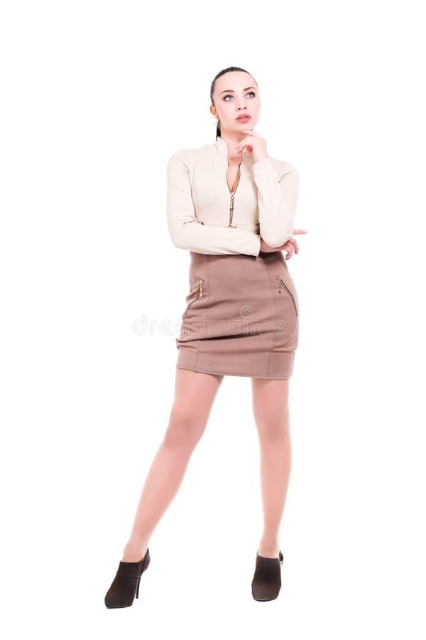 Rozważna młoda kobieta fotografia royalty free