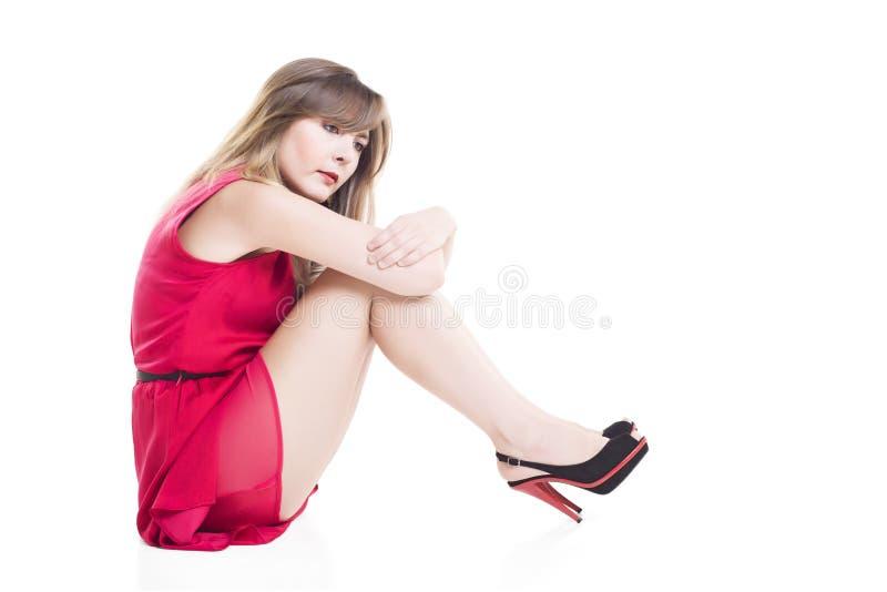 Rozważna młoda kobieta fotografia stock