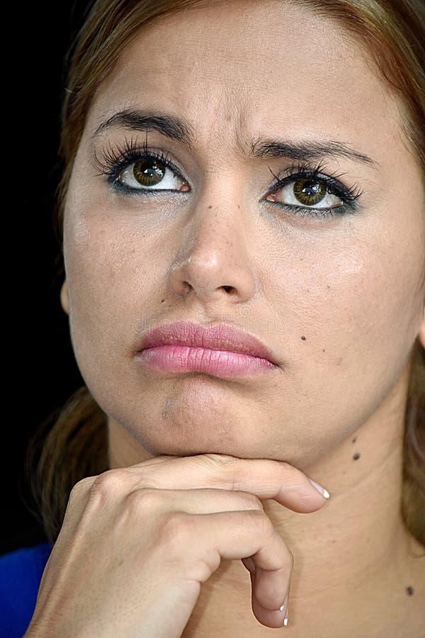 Rozważna Młoda Różnorodna kobieta obrazy royalty free