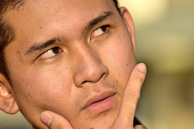 Rozważna Przystojna Filipińska osoba fotografia stock