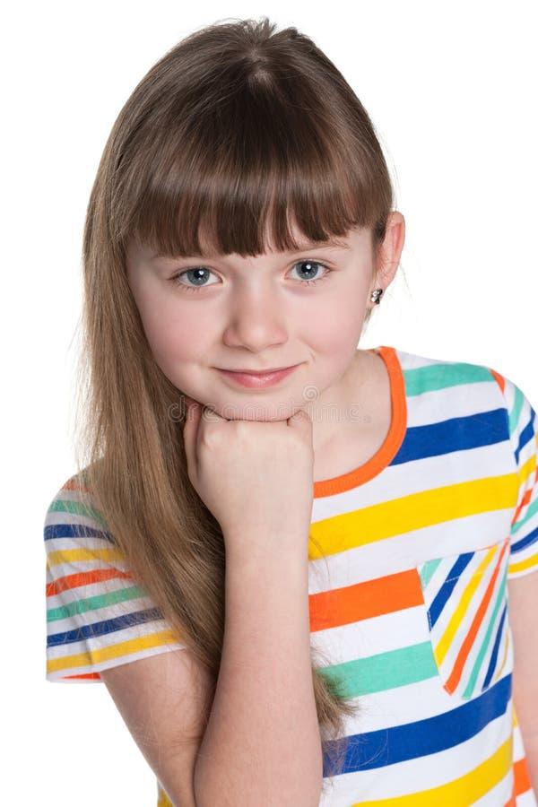 Download Rozważna Urocza Mała Dziewczynka Obraz Stock - Obraz złożonej z zadumany, wyobraźnie: 41951505