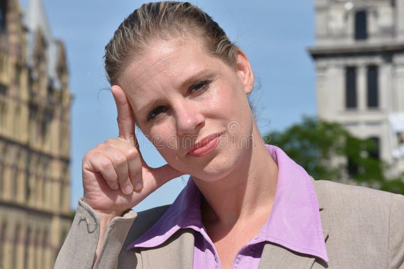 Rozważnej blondynki Biznesowa kobieta fotografia royalty free