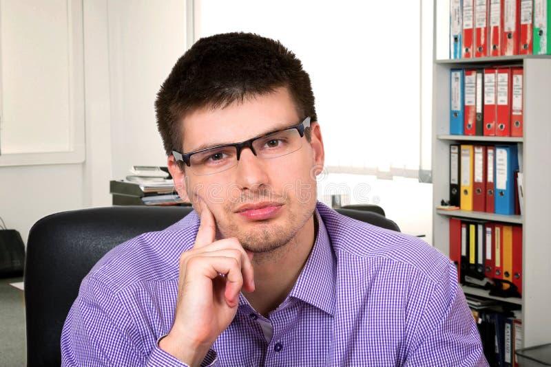 rozważny biznesmena portret zdjęcie stock