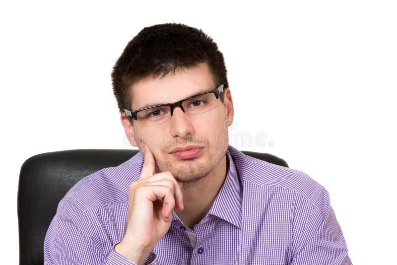 rozważny biznesmena portret obrazy stock