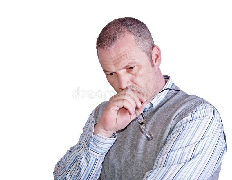 rozważny starzejący się męski środkowy portret zdjęcie royalty free