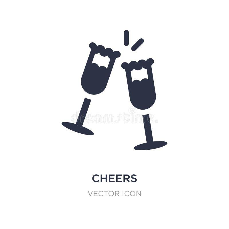 rozwesela ikonę na białym tle Prosta element ilustracja od alkoholu pojęcia royalty ilustracja