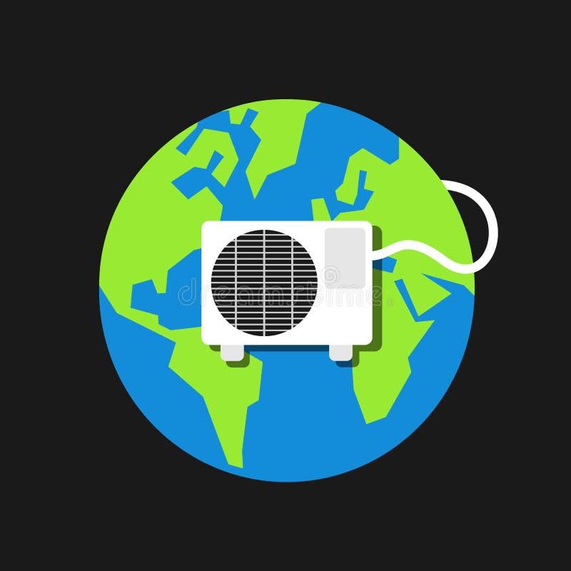 Rozwiązania fo zmiana klimatu i globalne ocieplenie ilustracja wektor