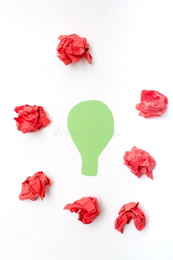 Rozwiązania pojęcie dla jasnego myśl procesu zdjęcie royalty free