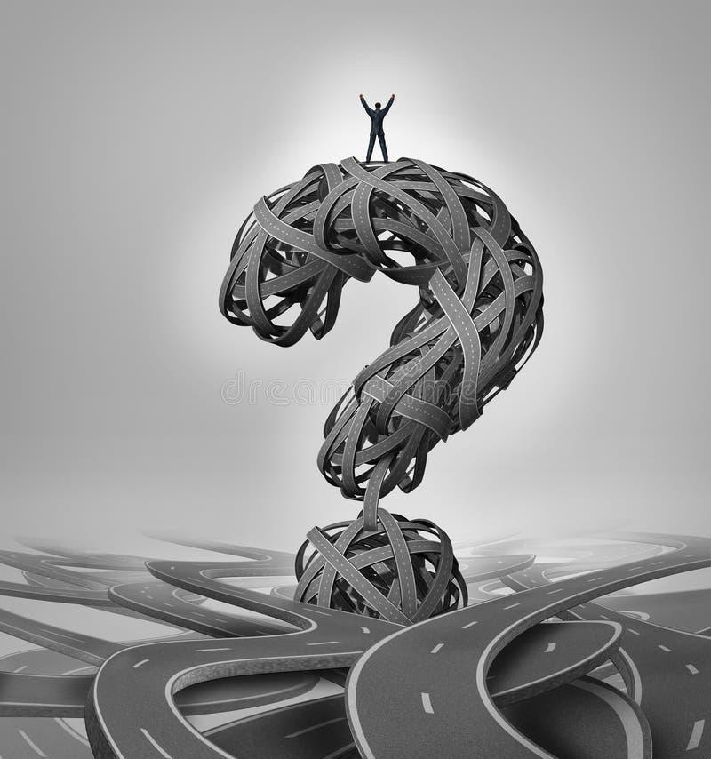Rozwiązanie droga ilustracja wektor