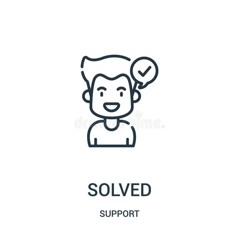 rozwiązany ikona wektor od poparcie kolekcji Cienka linia rozwiązująca kontur ikony wektoru ilustracja Liniowy symbol dla używa n ilustracja wektor