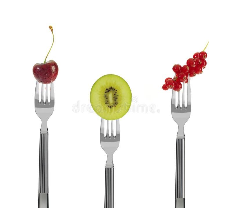 rozwidla świeżą owoc zdjęcie royalty free