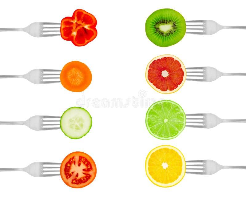 rozwidla owoc warzywa zdjęcia stock