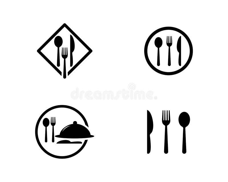 Rozwidlenia i łyżki ikona ilustracji