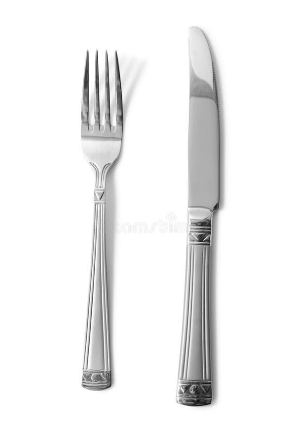 rozwidlenie nóż zdjęcie stock