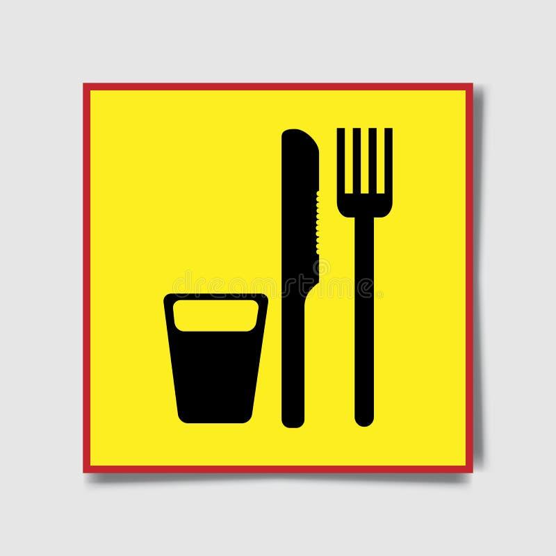 Rozwidlenie, nożowe ikony Cutlery symbol Gadki mowy bąbla, mapy i prezentaci znaki, Kontakty i kleszczowe sieci ikony ilustracji