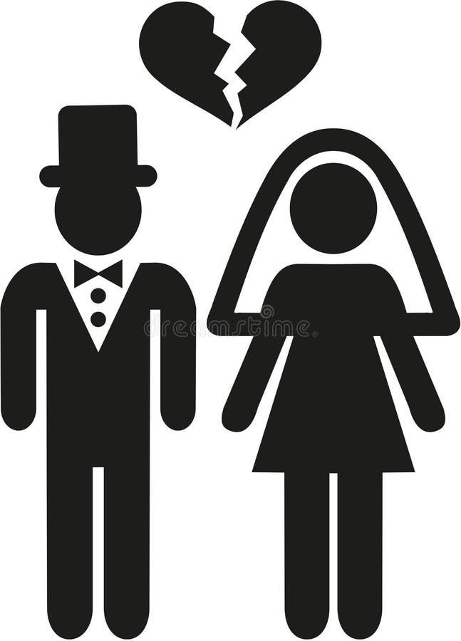 Rozwiedziona pary ikona ilustracja wektor