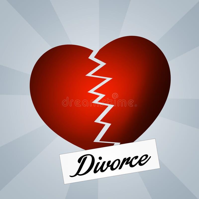 rozwiedziony royalty ilustracja