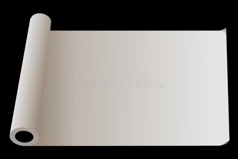 rozwijać papierowa rolka ilustracja wektor