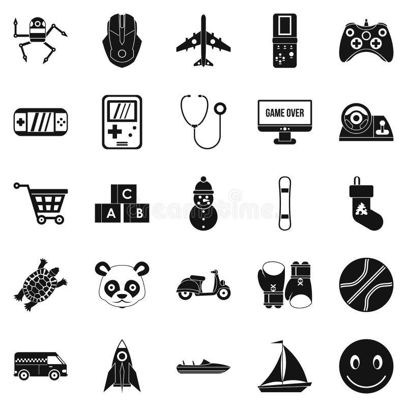 Rozwija dziecko ikony ustawiać, prosty styl royalty ilustracja