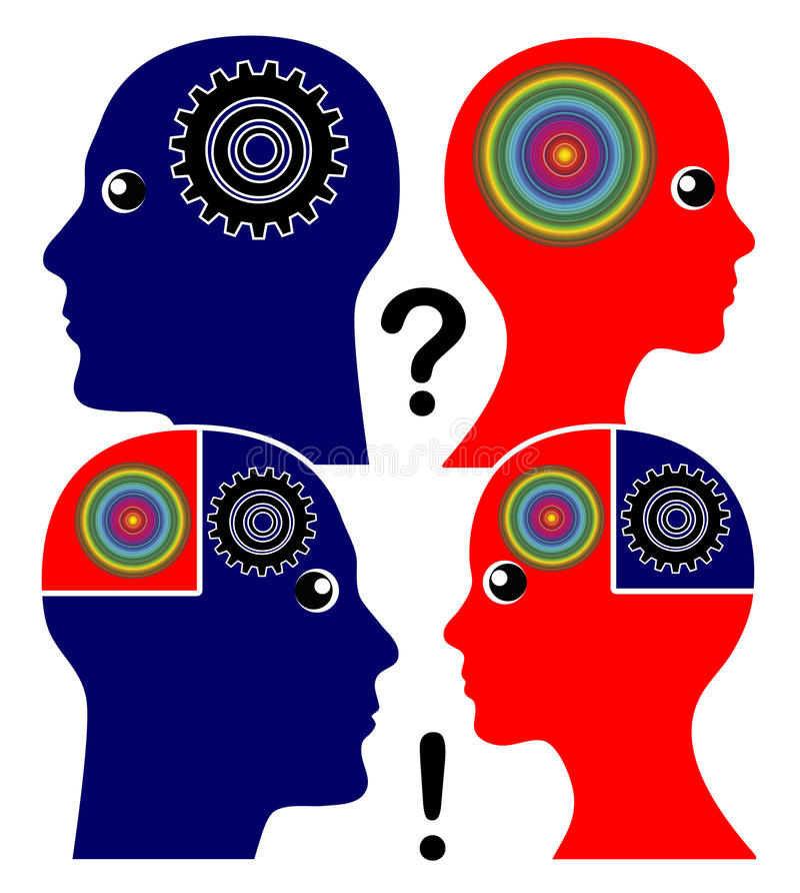 Rozwija Emocjonalna inteligencja ilustracji