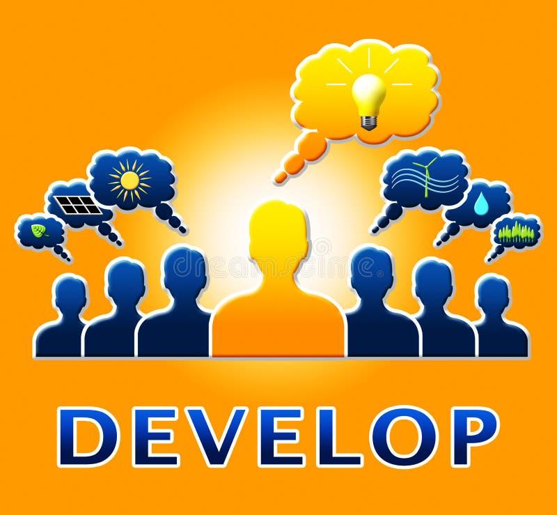 Rozwija ludzi Znaczy Wzrostową postępu 3d ilustrację royalty ilustracja
