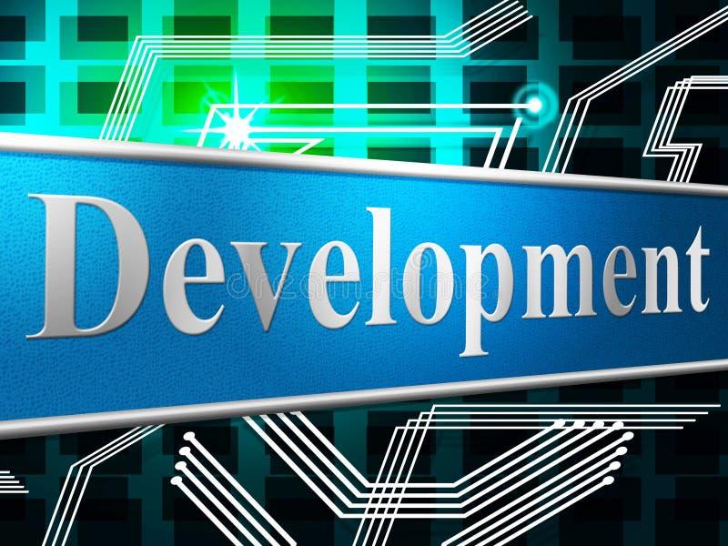 Rozwija rozwój Wskazuje sukces Tworzy I Rozwija się royalty ilustracja