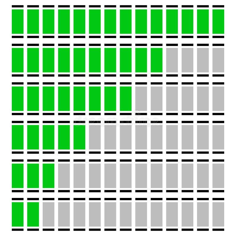 Rozwija się, równi wskaźniki - wymierniki, metry w sekwenci ilustracja wektor