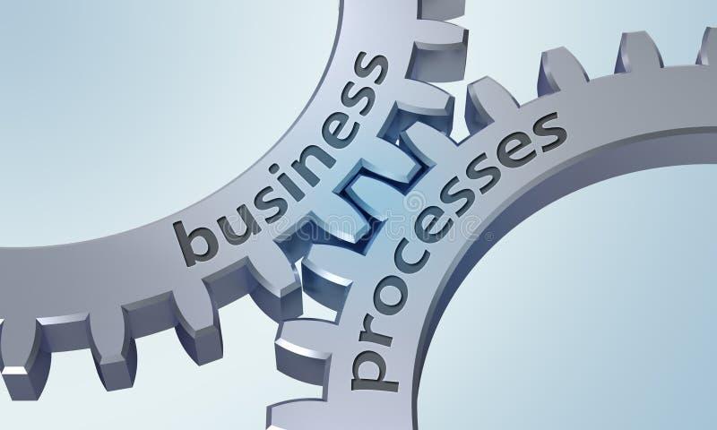 Rozwoje Biznesu na metal przekładniach ilustracji