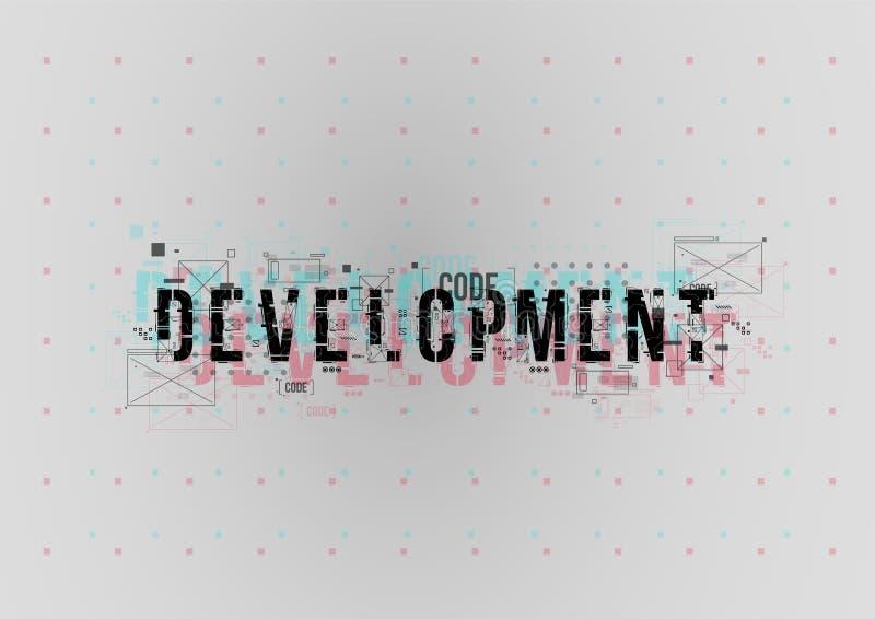 rozwojowy Konceptualny układ z HUD elementami dla druku i sieci Literowanie z futurystycznymi interfejsów użytkownika elementami fotografia royalty free