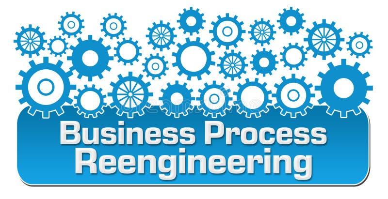 Rozwoju Biznesu błękita Reengineering przekładnie ilustracji