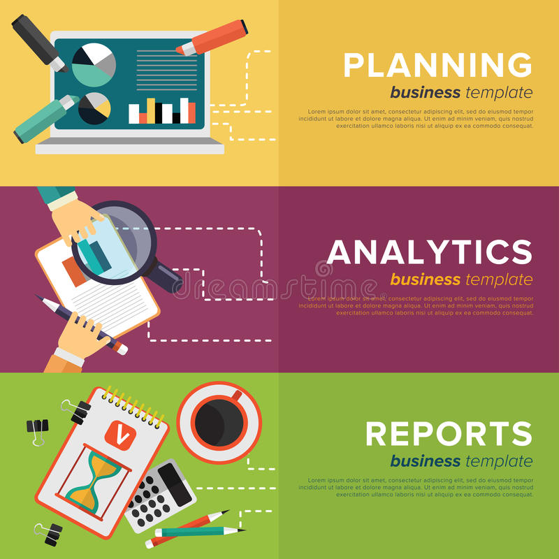 Rozwoju Biznesu zarządzanie wektor ilustracji