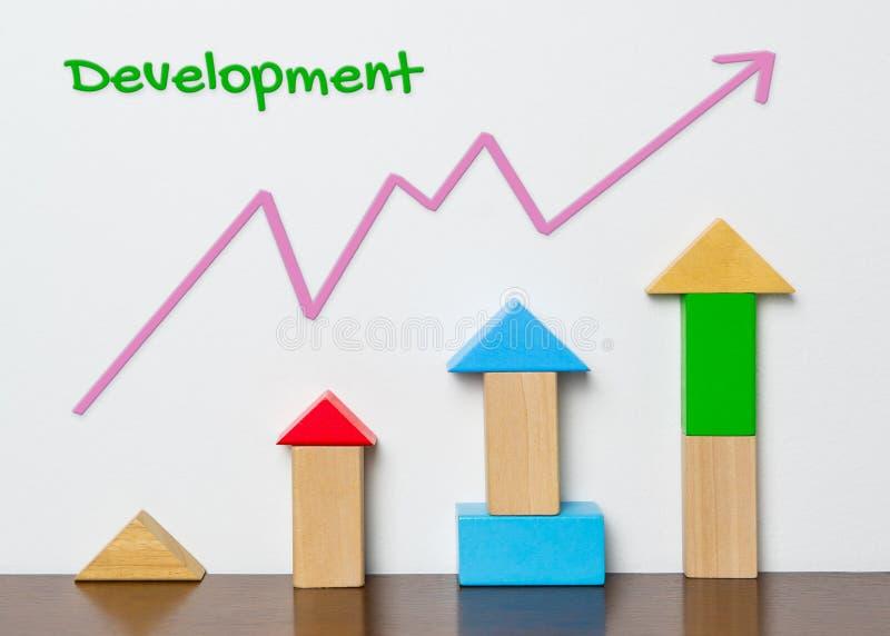 Rozwoju Dziecka wykres z zabawka blokiem zdjęcie royalty free
