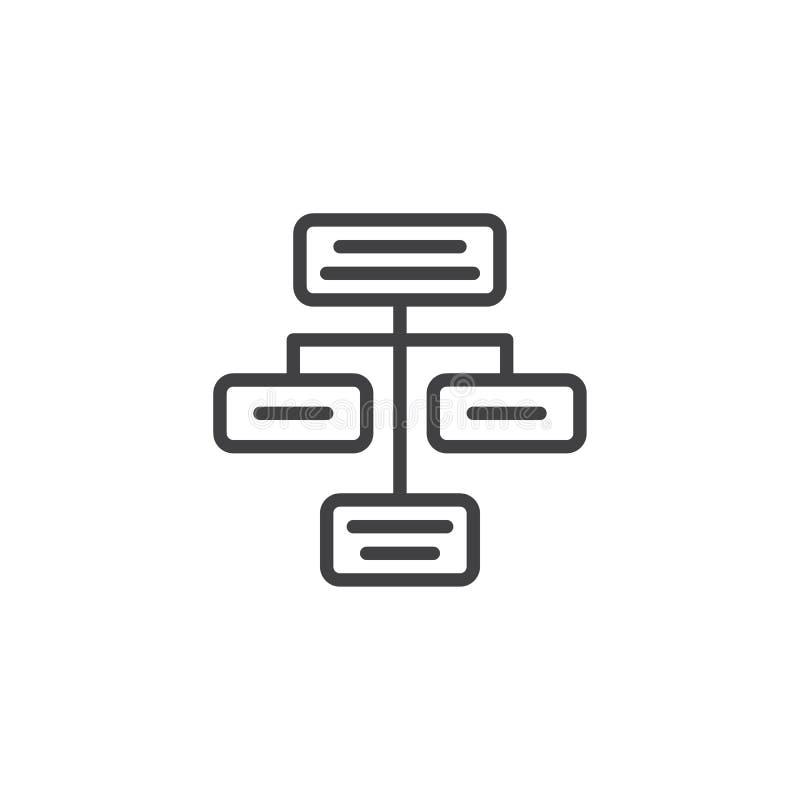 Rozwoju konturu ikona royalty ilustracja