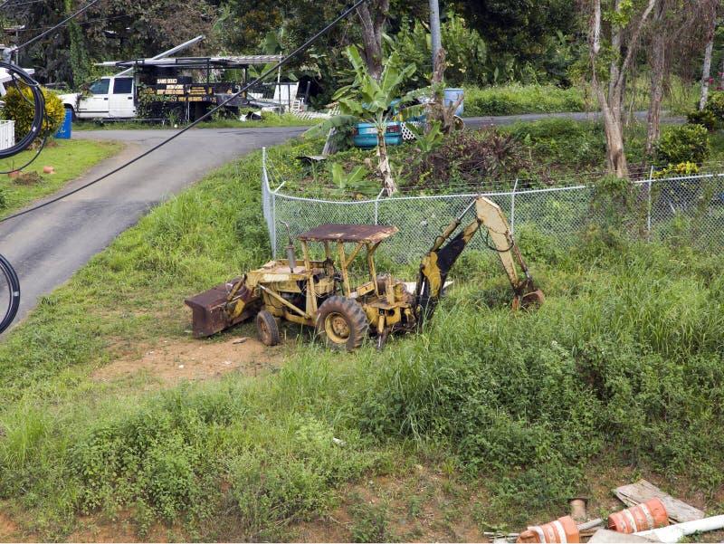 RP rouillées de Ford Holland CaseLoader Tractor Backhoe Bulldozer Bayamon photos libres de droits