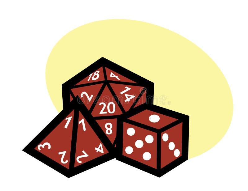 RPG χωρίζει σε τετράγωνα διανυσματική απεικόνιση