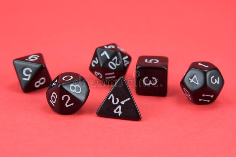 RPG dice royalty free stock photos