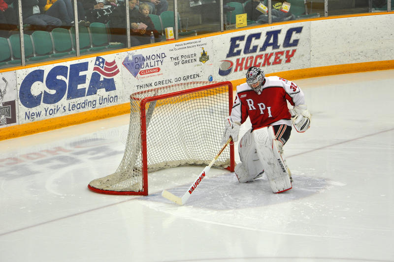Download RPI Goalkeeper Warmup In NCAA Hockey Game Editorial Photo - Image: 22182496